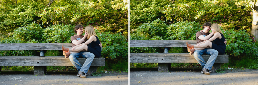 Gastown engagement photo