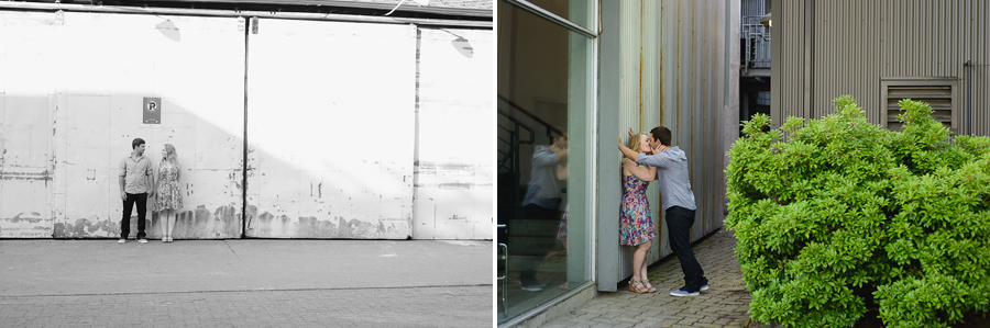 Granville Island engagement photo