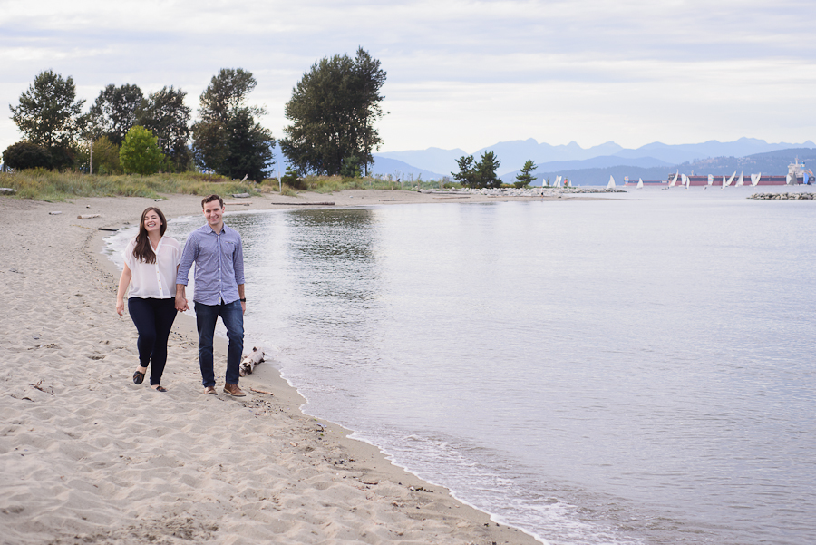 Jericho Beach engagement photo