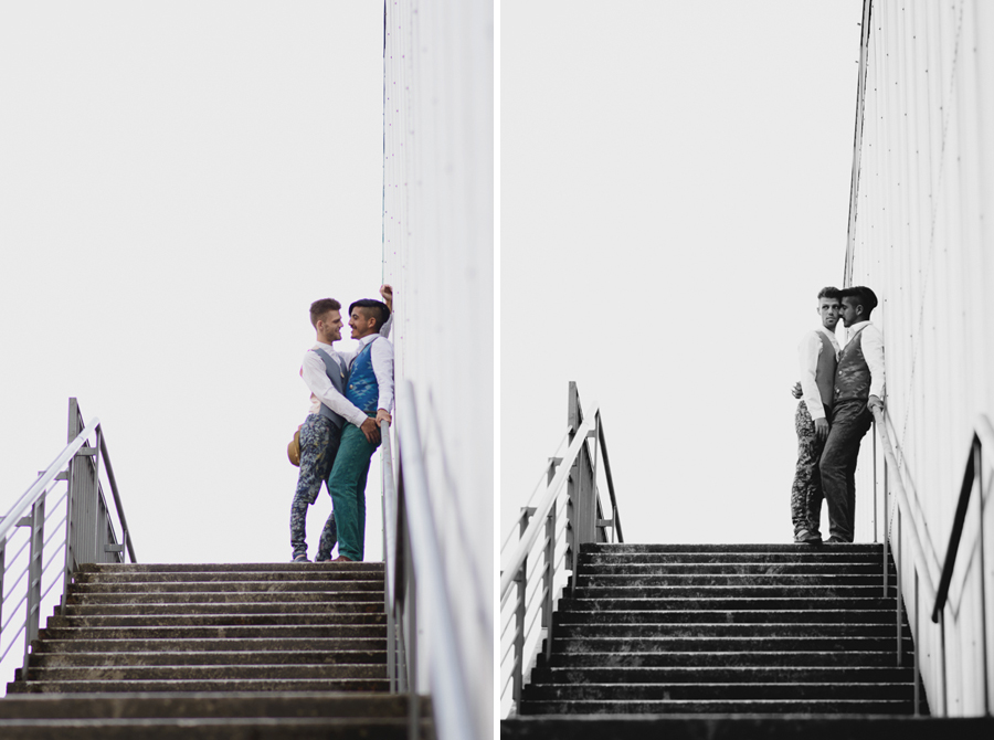 gay couple Emily Carr engagement photo | Vancouver same-sex wedding photographer