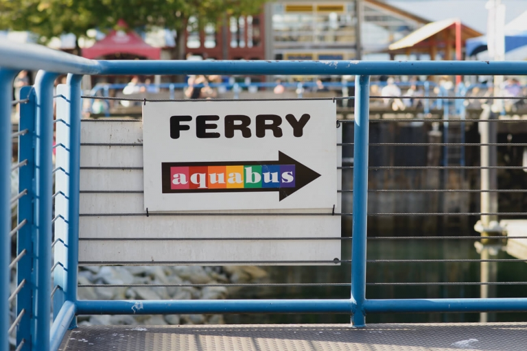 Aquabus ferry terminal on Granville Island in Vancouver