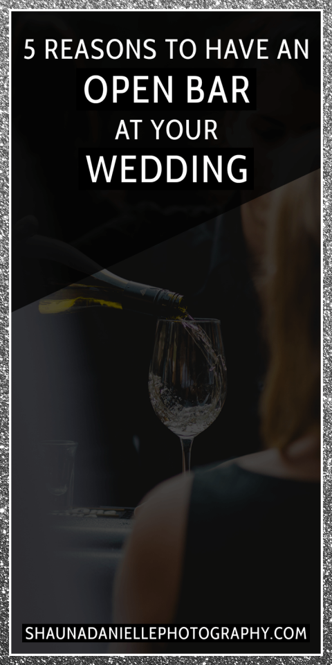 5 reasons to forget the cash bar, skip the toonie bar, and have an open bar at your wedding reception! | Click to see the full blog post! http://www.shaunadaniellephotography.com