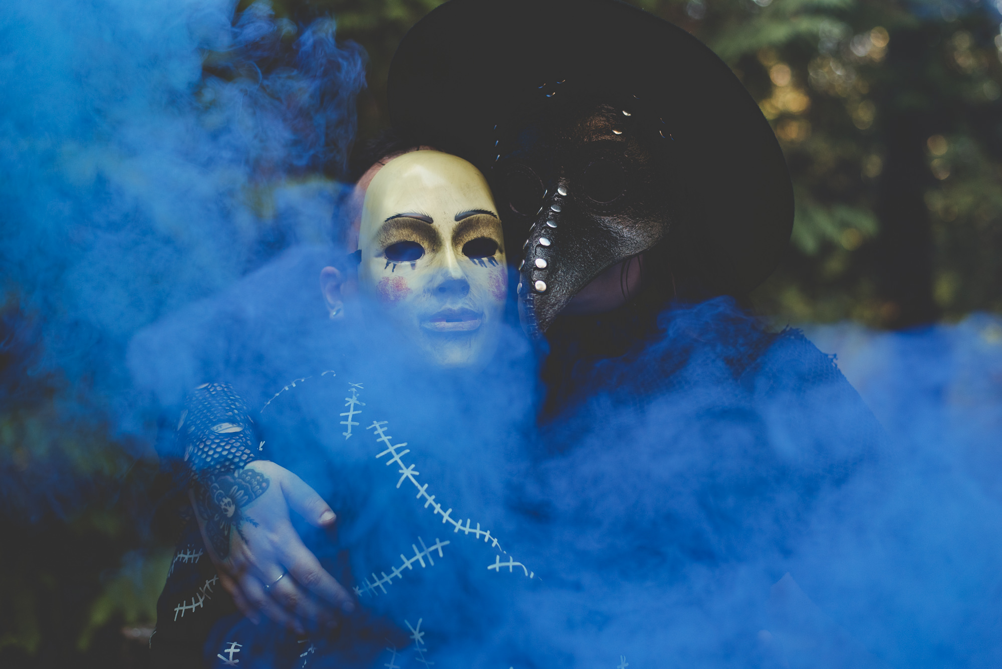 Smoke Bomb Hallowe'en Engagement | Vancouver Wedding Photographer