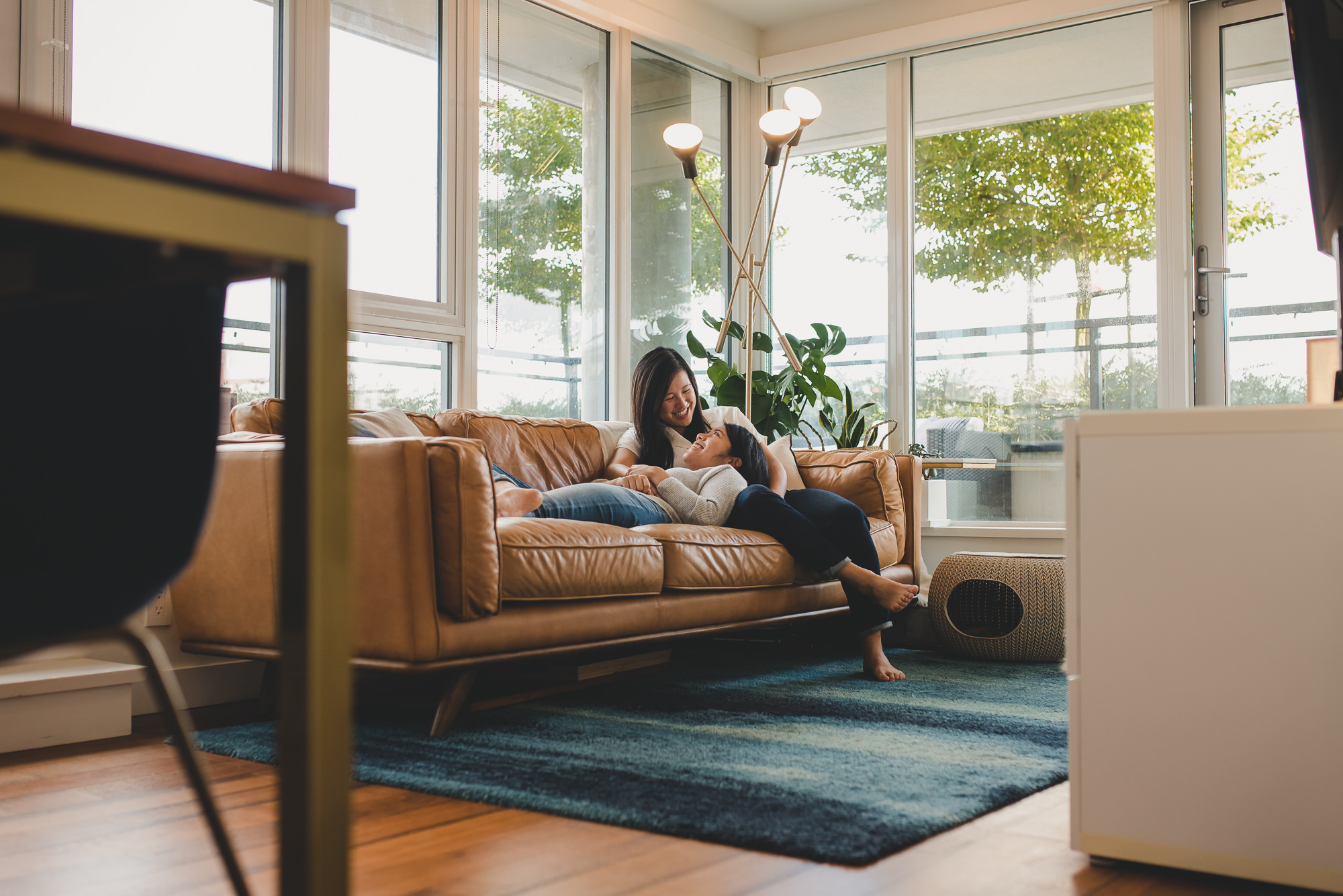 In-Home Engagement Session in Vancouver | Sharon + Jamie